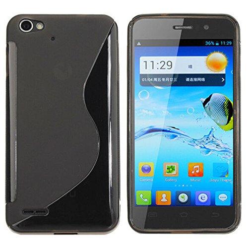 Easbuy Silikon Tasche für JIAYU G4 G4S G4C Smartphone Handy Tasche Hülle Case Handytasche Handyhülle Schutzhülle Etui Case Cover (Schwarz)
