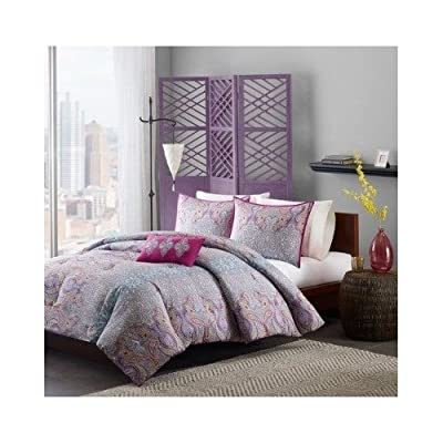 Comforter Girls Teen Bedding Set Pink Purple Yellow Paisley Pillows Update Your Rooms Look Instantly Full/queen or Twin/twin Xl