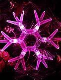 LIANGRUYI LED Strips Shaped Pink Light LED String Fairy Lamp for Christmas (3xAA)