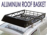 Search : TMS ALUM-RFCARRIER-RCR5040A  50-Inch by 39-Inch Car Roof Rack Basket Cargo Top Luggage Carrier, Black