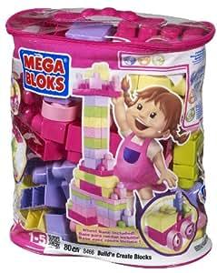 Megabloks 80pc Lrg Mega Bloks Bag Pink
