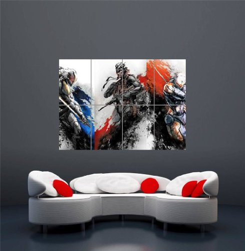 XBOX ONE PS3 PS4 PC GAME METAL GEAR SOLID GIANT NEW ART PRINT POSTER OZ1229 (Metal Gear Solid 4 Pc compare prices)