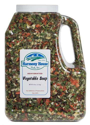 Harmony House Foods, Dried Vegetable Soup Mix (42 oz, Gallon Size Jug) (Dehydrated Vegetable Mix compare prices)