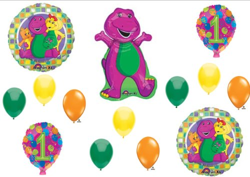 Barney 1St Birthday Party Balloons Decorations Supplies Baby Bop front-997705
