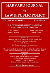 Harvard Journal of Law & Public Policy, Volume 34, Issue 3 (Pages 819 - 1143)