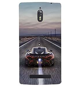 Printvisa Speeding Sports Car Back Case Cover for Oppo Find 7