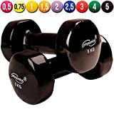 Physionics� HSTA25 Vinyl Dumbbells COLOUR CHOICE AND CHOICE OF WEIGHT (black)by Physionics�