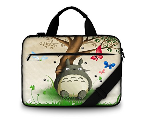 """Cute Animal & Tree 15"""" 5.4"""" 15.6"""" Laptop Notebook High Density Canvas Briefcase Washable Handle Bag Removable Strap Pouch Shoulder Cover Case For Hewlett Packard /Toshiba Satellite /Toshiba Qosmio /Acer Aspire /Acer TravelMate /Samsung ATIV Book /Samsung Series 5 9 Notebook /Panasonic ToughBook /Lenovo G Series Notebook /Lenovo ThinkPad Edge 15"""" /Lenovo IdeaPad Flex 15 Touch Screen /Sony VAIO Touch Screen /ASUS VivoBook /Dell Alienware M15x / Dell Inspiron 15R /HP Envy Touchsmart 15 /HP Compaq /HP Pavillion M6 DV1000"""