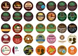 Crazy Cups Travel the World Sampler, Single-cup coffee pack sampler for Keurig K-Cup Brewers (Pack of 35)