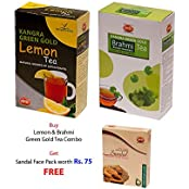 Khadi Kangra Valley Lemon Tea + Brahmi Tea (Pack Of 2)