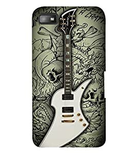 PrintVisa Music Guitar Quotes 3D Hard Polycarbonate Designer Back Case Cover for Blackberry Z10