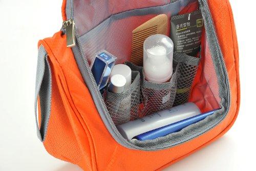 Organizador Baño Viaje:Neceser de viaje / organizador de baño / bolsa de aseo, con gancho