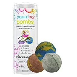 Relaxation & Spa Collection Luxurious Bath Bomb Gift Set Of 3 Relaxation & Spa Collection Boomba Bath Bombs - 3 Bath Bomb Fizzies Per Bath Bomb Kit