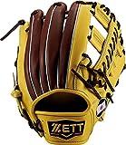 ZETT(ゼット) 野球 軟式 セカンド・ショート グラブ(グローブ) プロステイタス (左手用) BRGB30550 イエロー/チョコブラウン