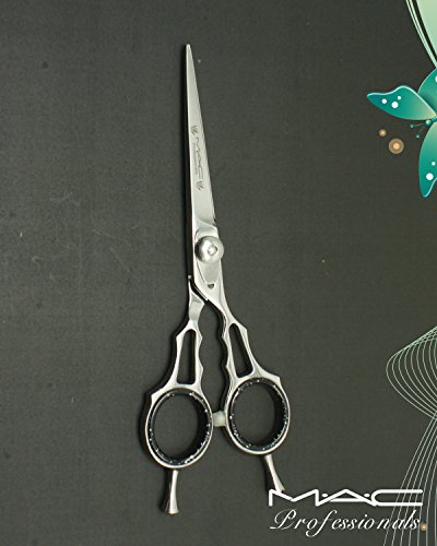 Mac Professional Barber Razors Edge Hair Cutting Shears 6 For Double Action With Both Rings Finger Rest Mac Brand-219 Made of High Grade J2 440 Japanese Stainless Steel black knight 6 inch hair scissors professional hairdressing barber shears titanium salon rotate handle style high quality