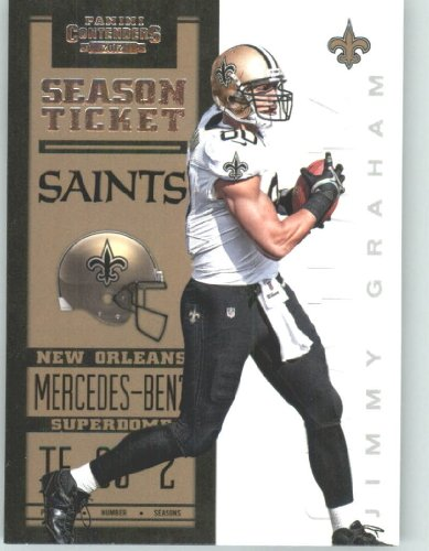 2012 Panini Contenders Playoff Season Ticket # 62 Jimmy Graham - New Orleans Saints (NFL Football Trading Card) at Amazon.com
