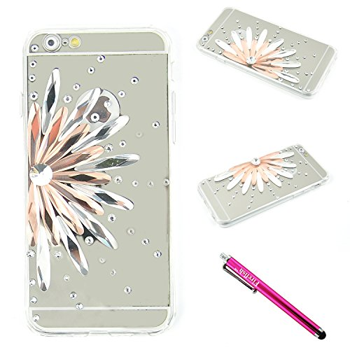 iPhone 6S/iPhone 6 Case, Firefish Transparent Slim Luxury Diamond TPU Bumper+Hard PC Back Cover Scratch Resistant Protective Clear Case for iPhone 6/6S 4.7