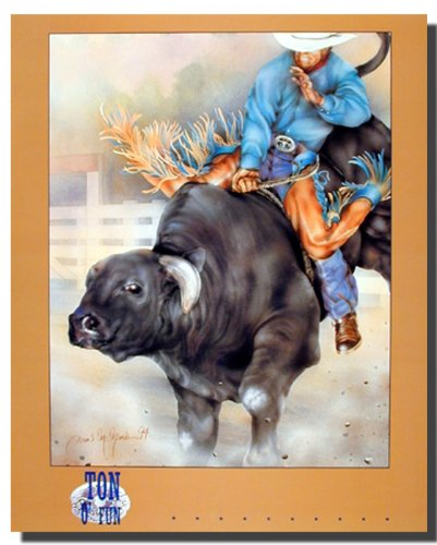 Western Cowboy Rodeo Bull Riding Picture Wall Decor Art Print Poster (16x20) (Rodeo Pictures compare prices)