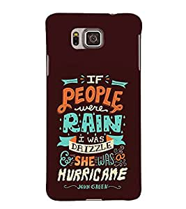 Rain Drizle Hurricane 3D Hard Polycarbonate Designer Back Case Cover for Samsung Galaxy Alpha G850