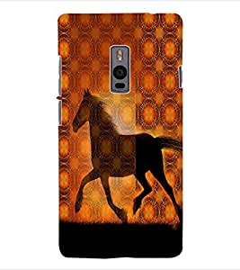 ColourCraft Horse Back Case Cover for ONEPLUS TWO