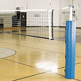 Alumagoal Pro Power Steel Volleyball System w/o Ground Sleeves (Padding Color: Royal)