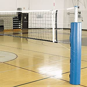 Buy Alumagoal Complete Pro Power Steel Volleyball System (Padding Color: Dark Green) by Alumagoal