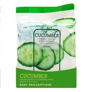 Cucumber makeup wipes