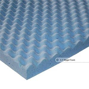 Sleep Master 1.5-Inch Gel Memory Foam Comfort Curve Topper, Queen