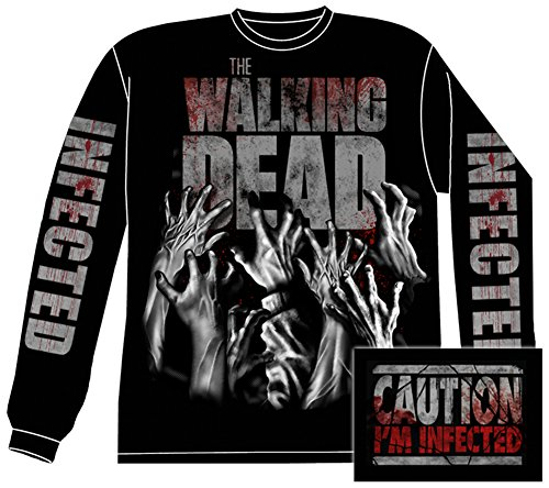 long-sleeve-the-walking-dead-infected-hands-front-back-longsleeve-shirt-size-s