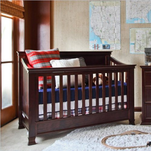 Million Dollar Baby Classic Foothill 4-In-1 Convertible Crib With Toddler Rail, Espresso