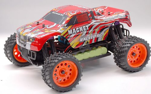 1/16 2.4Ghz Exceed RC Magnet EP Electric RTR Off Road Truck Stripe Red