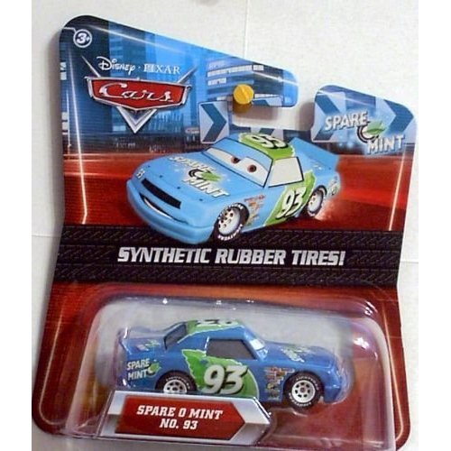 -  Disney / Pixar CARS Movie Exclusive Die Cast Car with Synthetic Rubber Tires Spare O Mint, 1:55 Scale