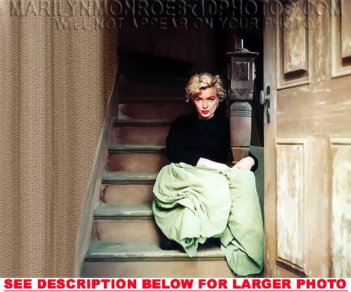 MARILYN MONROE ON THE STAIRS (1) RARE 8x10 FINE ART PHOTO