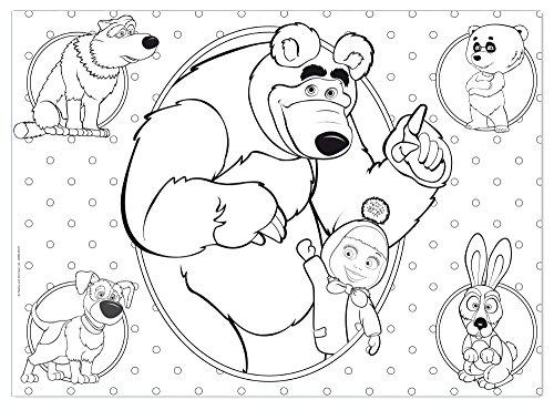 Lisciani 48472 masha e orso in the house puzzle e color for Immagini masha e orso da colorare