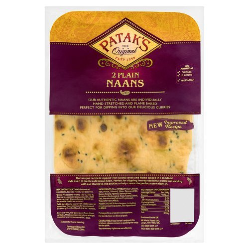 Pataks Plain Naan Bread 2 Pack 280g (Bread Naan compare prices)