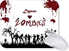 Rikki KnightTM Dyson Loves Zombies on Red Grunge Personalized with Name Mouse Pad