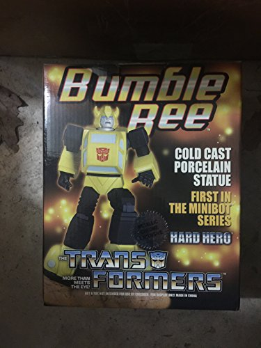 Transformers Bumble Bee Cold Cast Porcelain Statue First in the Minibot Series Sculptured By Hard Hero Collectible Limited Edition