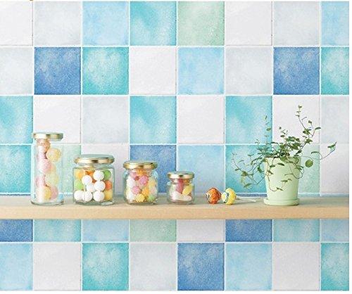 HWP-21623 Peel & Stick Vinyl Blue Multi Color Bathroom
