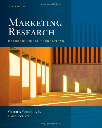 Marketing Research: Methodological Foundations (with...