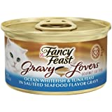 Fancy Feast Wet Cat Food, Gravy Lovers, Ocean Whitefish & Tuna Feast in Sautéed Seafood Flavor Gravy, 3-Ounce Can, Pack of 24