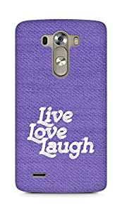 Amez Live Love Laugh Back Cover For LG G3