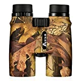 BNISE Asika 10x42 HD Binoculars - Military Telescope for Hunting and Travel - Compact Folding Size - High Clear Large Vision - Army Color