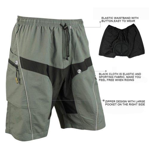 Santic Mens Mountain Loose-fit Biking Shorts Padded Coolmax Cycling MTB Short Size XXL