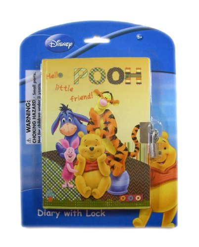 Disney Winnie the Pooh Diary with Lock - Pooh Bear, Eeyore, Tigger and Piglet
