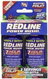 VPX REDLINE Power Rush 7hr Energy Shot Beverage, Exotic Fruit, 2.5-Ounce Bottles (Pack of 24)