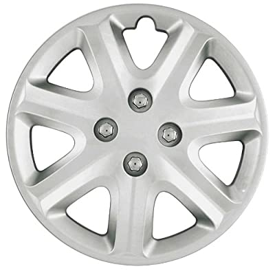 CCI IWCB8902-15S 15 Inch Clip On Silver Finish Hubcaps - Pack of 4