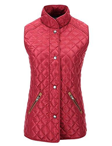 Bellivera Lady Quilted Vest Winter Warm Sleeveless Waistcoat