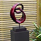Modern Metallic Eternity Abstract Garden Sculpture - Large Statues