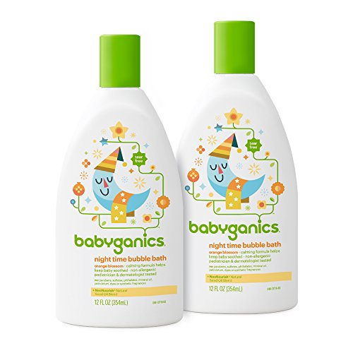 Babyganics Baby Bubble Bath, Orange Blossom, 12oz Bottle, (Pack of 2) Blossom Bath
