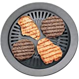 Chefmaster KTGR5 13-Inch Smokeless Stovetop Barbecue Grill Case Pack 2